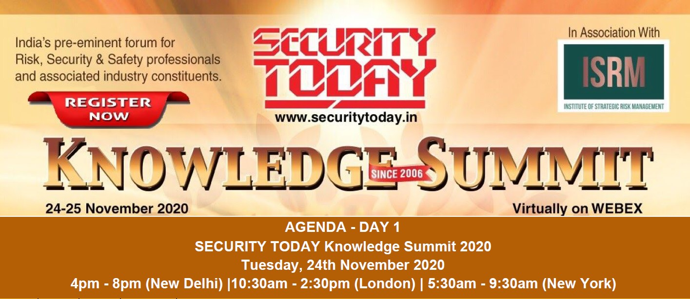 Security today Knowledge Summit – Virtually on WEBEX 24-25 November 2020.