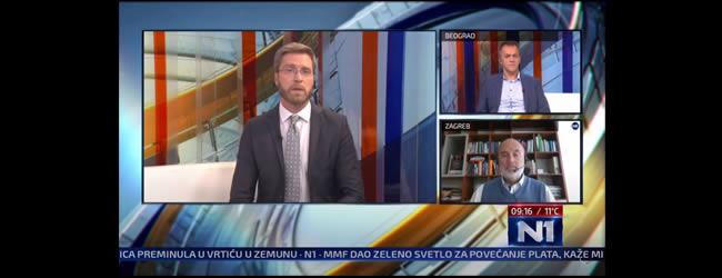 """VIDEO: Gostovanje prof. dr Zorana Kekovića na N1 TV u emisiji """"Novi dan"""""""