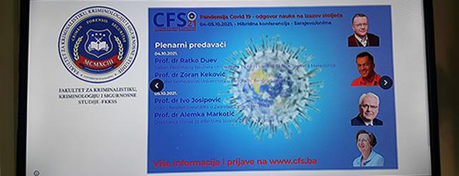 Međunarodna konferencija CFS21 održana u Sarajevu 4.i 5. oktobra 2021.