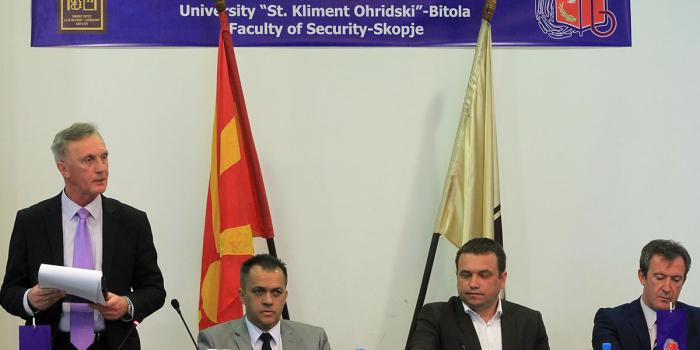 Gostovanje prof. dr Zorana Kekovića na Fakultetu bezbednosti u Skoplju